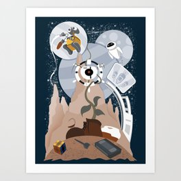 Tribute to Wall-e Art Print