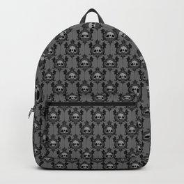 Halloween Damask Grey Backpack