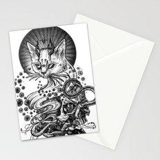 Satan cat Stationery Cards