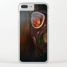 Fire in the eyes Clear iPhone Case