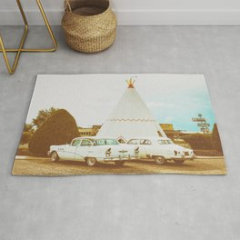 Route 66 Mid Century Photography Prin Rug