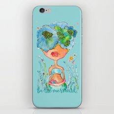 blue girl -- she's a gentle one. iPhone & iPod Skin