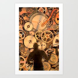 Steel Drivin' Man Art Print