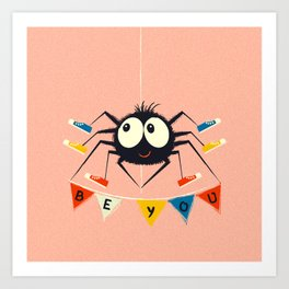Cute Spider wearing trainers Art Print