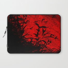 Red Birds, Red Night Laptop Sleeve