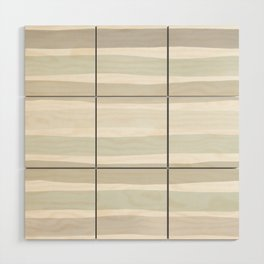 Watercolor Stripes Hues of Grey by Friztin Wood Wall Art