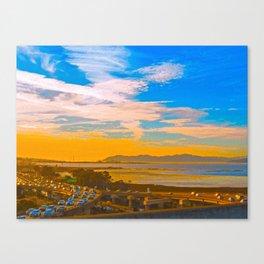 Traffic Jam At Sunset Canvas Print