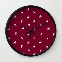 RED DEER PATTERN Wall Clock
