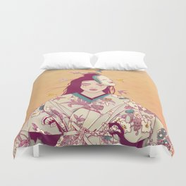Origami Lady Duvet Cover