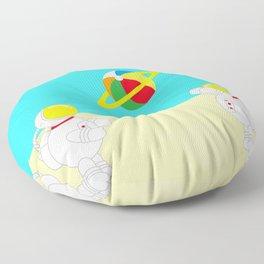 Space Odyssey | Astronaut Beach | Beach Ball | Summer | Sea | Seaside | Ocean | pulp of wood Floor Pillow