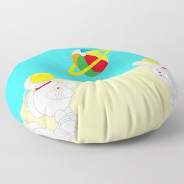 Space Odyssey | Astronaut Beach | Beach Ball | Summer | Sea | Seaside | Ocean | pulp of wood Floor Pillow