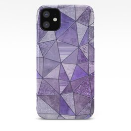 Purple Lilac Glamour Shiny Stained Glass iPhone Case