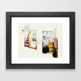 Tuesday Night Doors Framed Art Print