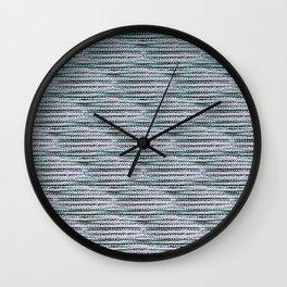 Knitting-like crochet texture Wall Clock