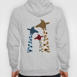 Abstract Colored Giraffe Family Hoody