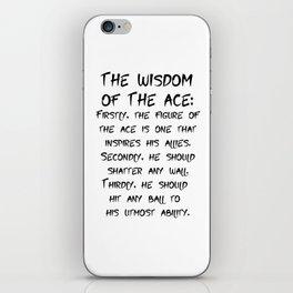 Bokuto Kotaro's Ace Shirt Quote iPhone Skin