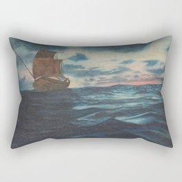 Sailing Boat- in oil Rectangular Pillow