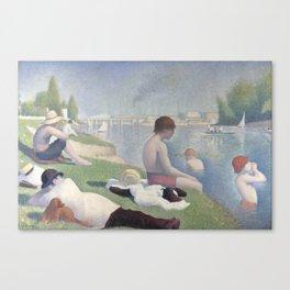 Bathers at Asnières Canvas Print