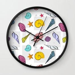 Time for seashells Wall Clock
