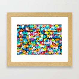 Rainbow Puzzle Framed Art Print