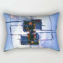 America ducking the question of origins (35mm multiple exposure) Rectangular Pillow
