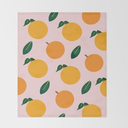 Oranges or Peaches? Throw Blanket