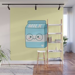 Kawaii Milk Wall Mural