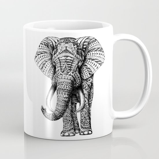 Ornate Elephant Mug