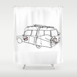 Ecto 1 Shower Curtain