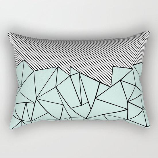 Ab Lines 45 Mint Rectangular Pillow