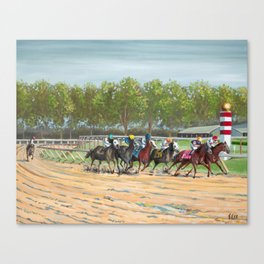 Stay In The Race Canvas Print
