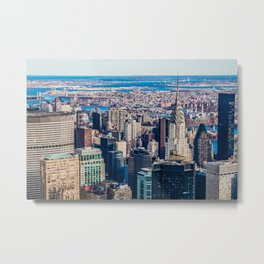 Midtown from top (HDR Color) Metal Print