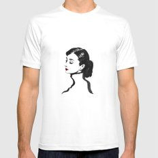 Audrey Hepburn White MEDIUM Mens Fitted Tee