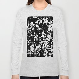 Black and white contrast ink spilled paint mess Long Sleeve T-shirt