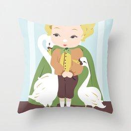 Porcelain Boy (Blond) Throw Pillow