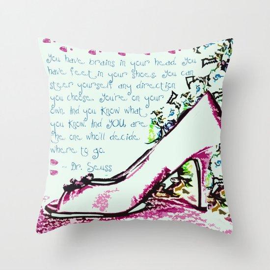 Made For Walkin' Throw Pillow