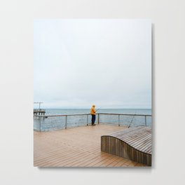 Coney Island Pier: Gone Fishing Metal Print