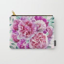 Beautiful soft pink peonies Carry-All Pouch