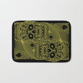 Ace of Spades Gold Skull Playing Card Bath Mat
