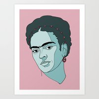 frida kahlo Art Prints featuring Frida Kahlo by Liam Hopkins
