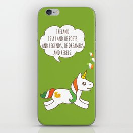 St. Patrick's Day Unicorn 3 iPhone Skin