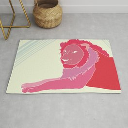 magenta lion Rug