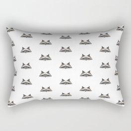 Raccoon Minimalist Pattern Rectangular Pillow