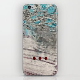 Wait // acrylic abstract texture modern painting iPhone Skin