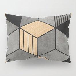 Concrete and Wood Cubes 2 Pillow Sham