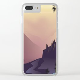 Woodland landscape. Clear iPhone Case