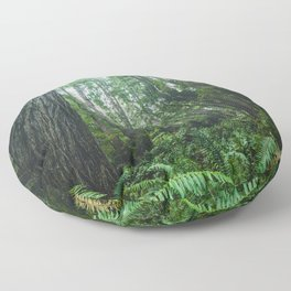 Redwood Forest Adventure IV - National Parks Nature Photography Floor Pillow