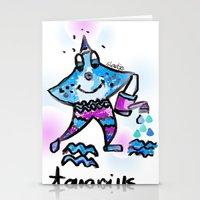 aquarius Stationery Cards featuring Aquarius  by sladja