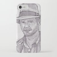 indiana jones iPhone & iPod Cases featuring Indiana by jamestomgray