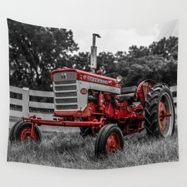 IH 240 Farmall Tractor Red Tractor Color Isolation Wall Tapestry